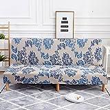 Jannyshop Sofabett Bezug Elastisch Sofabezug aus Polyestergewebe, für Klappsofa ohne Armlehne