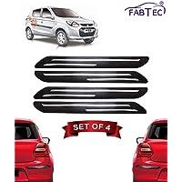 Fabtec Bumper Protector Guard for Maruti Alto 800 (Set of 4) Black (Double Chrome Strip)