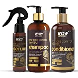WOW Skin Science Hair Loss Control Therapy Kit - consists of Shampoo, Conditioner & Hair Serum - Net Vol 700mL