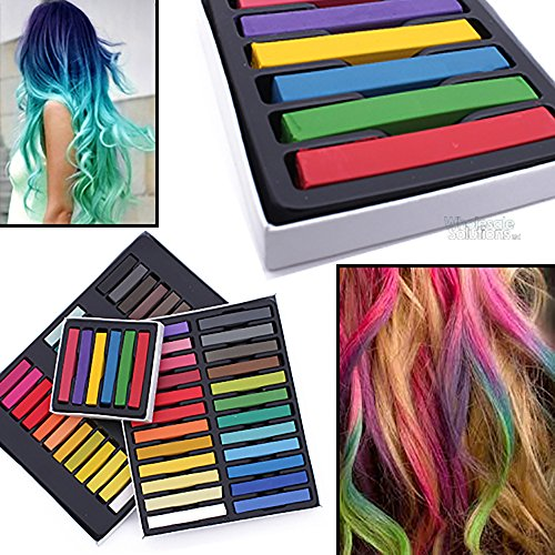 wholesale solutions cheveux craie temporaire kit coloration semi permanente pour cheveux couleur - Coloration Cheveux Craie