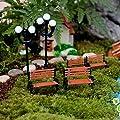 Miniatur Sitzbank DIY Kunststoffe Fairy Garden Craft Dekoration Blumentopf Decor von Luwu-Store - Du und dein Garten