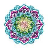 lzndeal 150 x 150 cm Strandtuch rund Sommer-Mandala Teppich, bedruckt,, Kofferraumwanne, Tisch Yoga (#2)