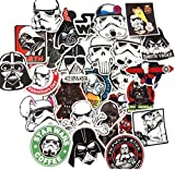 shopiseller Aufkleber Star Wars Vinyl (50 Stuck), Aufkleber (50) Stück Sticker Graffiti für Auto/Fenster/Wand/Laptop Sticker Bomb Star Wars Sticker Aufkleber Trooper Darth Vader Comic Film