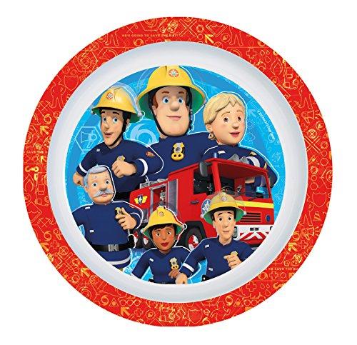 Feuerwehrmann Sam 7 teiliges Melamin Küchenset für Kinder, Teller, Müslischale, Suppenteller, Besteckset, Kinderbecher und Platzset als preiswertes Tisch-Set - 2