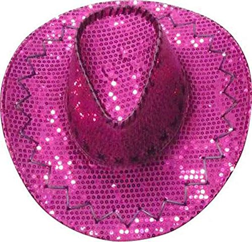 Cow boy paillettes rose