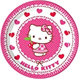 Procos 81792 – Pappteller Hello Kitty Hearts, Pink/Weiß