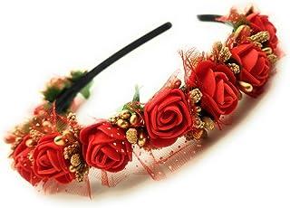 Satyam Kraft Flower Hair Band for Girls,Women Hair Accessory, Headband Crown, Tiara for Girls and Women