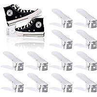 BIGLUFU Lot de 12 Support à Chaussures Réglables,Empiler Les Chaussures,Organiseur de Chaussures,Economie d'Espace à…