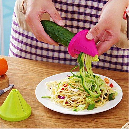 Edited Küche Gadget Trichter Gemüse Creative Multi Gemüsehobel Mandoline und Reibe Küche Set Karotte Radieschen Cutter Shred Slicer Spiral Device 7 x 6 cm Rot