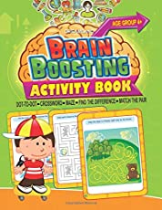 Brain Boosting Activity Book - Age 4+: Match the Pair, Find the Difference, Maze, Crossword, Dot-to-Dot  (4+ Yrs)
