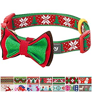 blueberry pet new christmas joy snowflakes and trees dog collar with detachable bow tie, small, neck 30cm-40cm, holiday collars for dogs Blueberry Pet New Christmas Joy Snowflakes and Trees Dog Collar with Detachable Bow Tie, Small, Neck 30cm-40cm, Holiday Collars for Dogs 61BS 2B5JxSAL