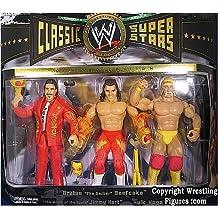 Hulk Hogan, Brutus Beefcake & Jimmy Hart Classic Superstars 3-Pack WWE Toy Wrestling Action Figures by Jakks