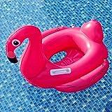 YEZOU Baby Schwimmsitz Rosafarbener Flamingo Aufblasbar Kinder Schwimmring Flamingo Cartoon Aufblasbares Schwimmreifen Badespielzeug (Flamingos)