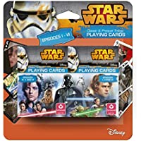 Cartamundi - 100146124201 - Star Wars 2 - Jeux De 54 Cartes - Trilogies Episodes 1 À 3 + 4 À 6 - Blister Pack