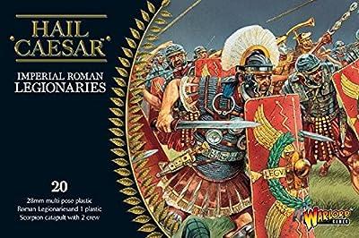 Légionnaires Impériaux Romains - Miniatures en Plastique 20x 28mm Plus Catapulte et Equipage de Scorpion