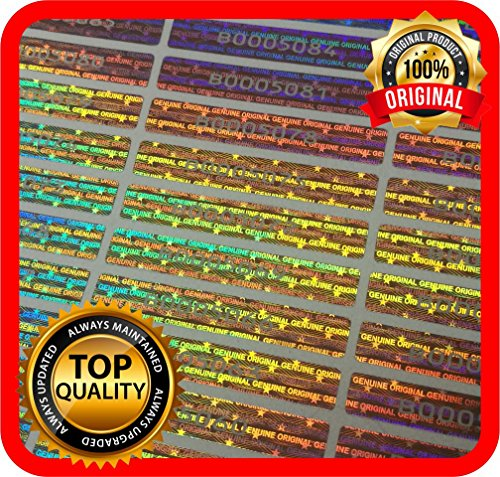 100unidades Holograma etiquetas números serie