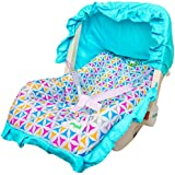 Baybee 5 in 1 Premium Quality Baby Carry Cot Cum Rocker (Blue)