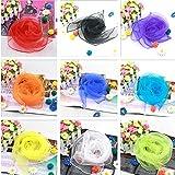 Doitsa Pack of 12 Multi-Coloured Solid Colour Small Square Hemmed Scarves - for Juggling, Dance, Etc - Great for Children - 60 x 60 cm