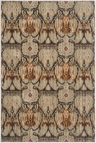 Safavieh Wohnzimmer Teppich, INF553, Gewebter Polyester, Grün / Braun, 120 x 180 cm