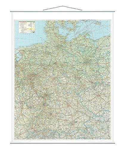 Preisvergleich Produktbild Franken KAM300 Kartentafel Straßenkarte (laminiert 1:750.000) 137 x 97 cm