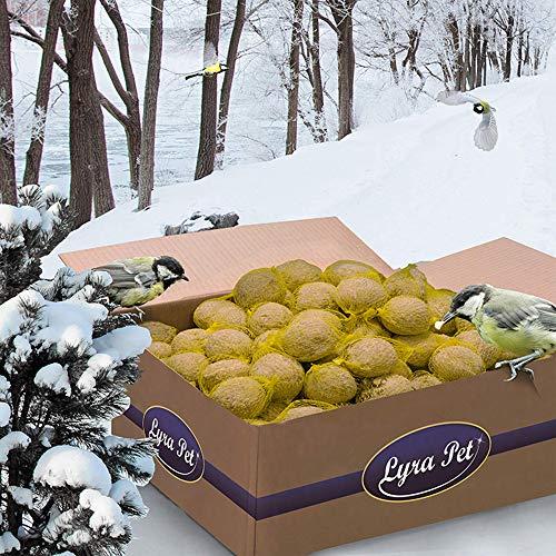 Lyra Pet 200 x 90 g Meisenknödel mit Netz 4 Jahreszeitenknödel Wildvogelfutter