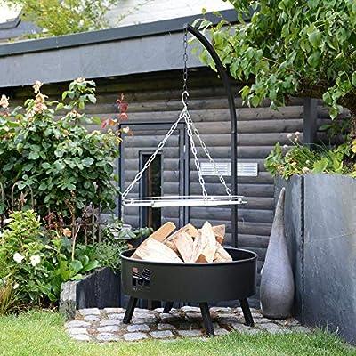RM Design Schwenkgrill Durchmesser Ø 61 Metall Feuerschale für Garten und Balkon