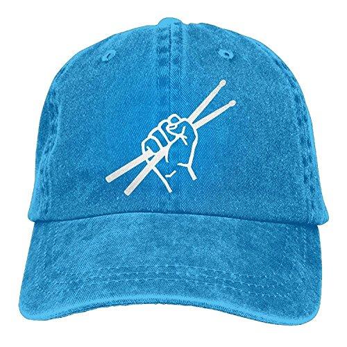 ll Caps Hats Men Women Drumsticks Drummer Denim Fabric Baseball Hat Adjustable Trucker Cap Royalblue ()