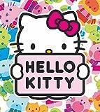 AG Design FTL 1641  Hello Kitty, Papier Fototapete Kinderzimmer- 180x202 cm - 2 teile, Papier, multicolor, 0,1 x 180 x 202 cm