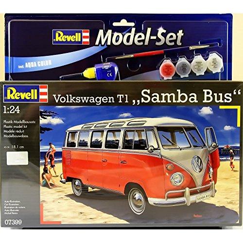 Revell 67399 Modellbausatz VW T1 Samba Bus im Maßstab 1:24