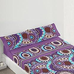 Juego de sábanas de Mandalas para cama de 90x190/200 cm