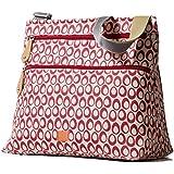 PacaPod Jura Cranberry Designer Baby Changing Bag - Luxury Lightweight Red Pattern 3 in 1 Organising System
