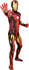 Offizieller Iron Man Delux Digital Morphsuit, Verkleidung, Kostüm - Large - 5'5-5'9 (163cm-175cm)
