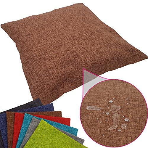 proheim Outdoor Deko-Kissenbezug 40 x 40 cm wasserabweisender Stuhl-Kissenbezug mit Fleckenschutz Sitz-Kissenbezug für Indoor und Outdoor, Farbe:Braun -