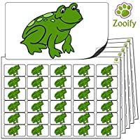 480x Frog Stickers (38 x 21mm) High Quality Self Adhesive Animal Labels By Zooify.