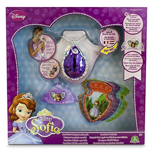 Princesse Sofia–Amulette Magique, mini tiare et 8cartes parlantes (Giochi Preziosi 58638)