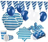 KPW XXL 69 Teile Bavaria Party Deko Set Oktoberfest für 10 Personen - Dekorations Set