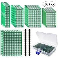 Philonext Tablero de PC echado a un lado doble de 32 PC, tablero de circuito impreso universal del prototipo de PCB del tamaño 5 para el pequeño proyecto de DIY