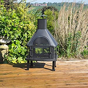 Kingfisher Garden Log Burner/BBQ Firepit
