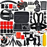 Leknes Accesorio para GoPro Hero 4 3+ 3 2 1 Black Silver Kit de Accesorios para gopro 4 3+ 3 2 1 Negro Plata SJ4000 SJ5000 SJ6000 Cámara para GoPro Hero4 Hero3+ Hero3 Hero2