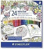 Staedtler 144 C24JB - Buntstifte Noris Club Set 24 farben, Exklusive Johanna Basford Edition