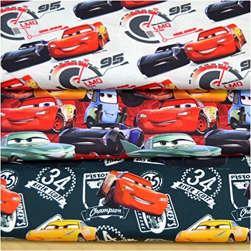 Disney Mädchen Kostüm Walt - MAGAM-Stoffe Cars Kinder Baumwollstoff Digitaldruck Oeko-Tex Meterware 50cm (03. River Scott)