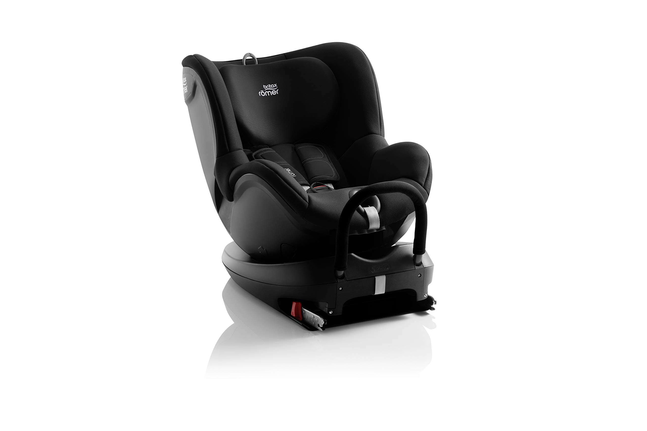 Britax Römer DUALFIX² R Group 0+1 (Birth-18 kg) Car Seat, Cosmos Black Britax Römer Intuitive 360° rotation for rearward and forward facing usage Easy entry with 90 degree rotation to the open door for easy placement of the child Extended rearward facing travel with more leg space thanks to shorter rebound bar 3