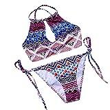 Ming Bikinis push-up Maillots de bain femme 2 piece avec String Imprimé Bikinis sexy Femme L'été