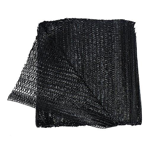40% Black Sun Abat-jour en filet solaire Abat-jour en tissu résistant aux UV Filet pour jardin Fleur Plante 2M x 5M noir