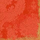 Duni Klassik-Servietten 4 lagig 1/4 Falz 40 x 40 cm Royal Mandarin, 50 Stück