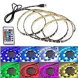 XCSOURCE 1m RGB TV retroilluminazione LED Strip USB Colore che cambia la luce USB regolabile Alimentato controller integrato + telecomando LD956