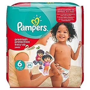 Pampers Windeln Easy up Gr.6 Extra Large 16+ kg Sparpack, 4er Pack (4 x 24 Stück)
