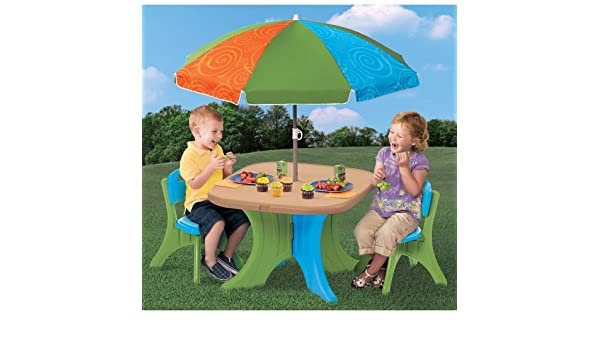 The Step2 Company, LLC The Step2 Company Play And Shade Patio Set:  Amazon.co.uk: Kitchen U0026 Home