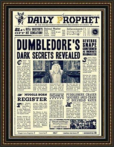 Poster in pergamena a3 (29x40cm) manifesto daily prophet gazzetta del profeta harry potter i segreti di silente
