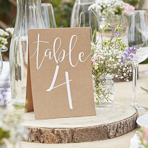 """Tischnummern Karten """"Rustic Country"""" Nr. 1-12 Vintage Hochzeit Tischdeko"""